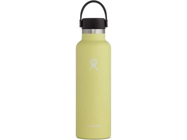 Hydro Flask Standard Mouth Drinkfles met standaard Flex Cap 621ml, geel